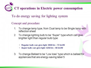 CT Options in Electric power consumption_procedure