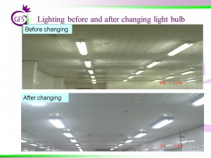 Lighting before & ater change