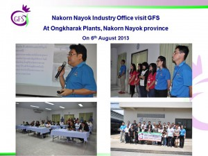 Nakorn Nayok Industry Office visit GFS_3rd November 2013
