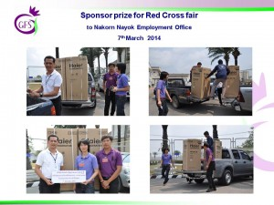Sponsor prize for Red Cross fair_7th March 2014