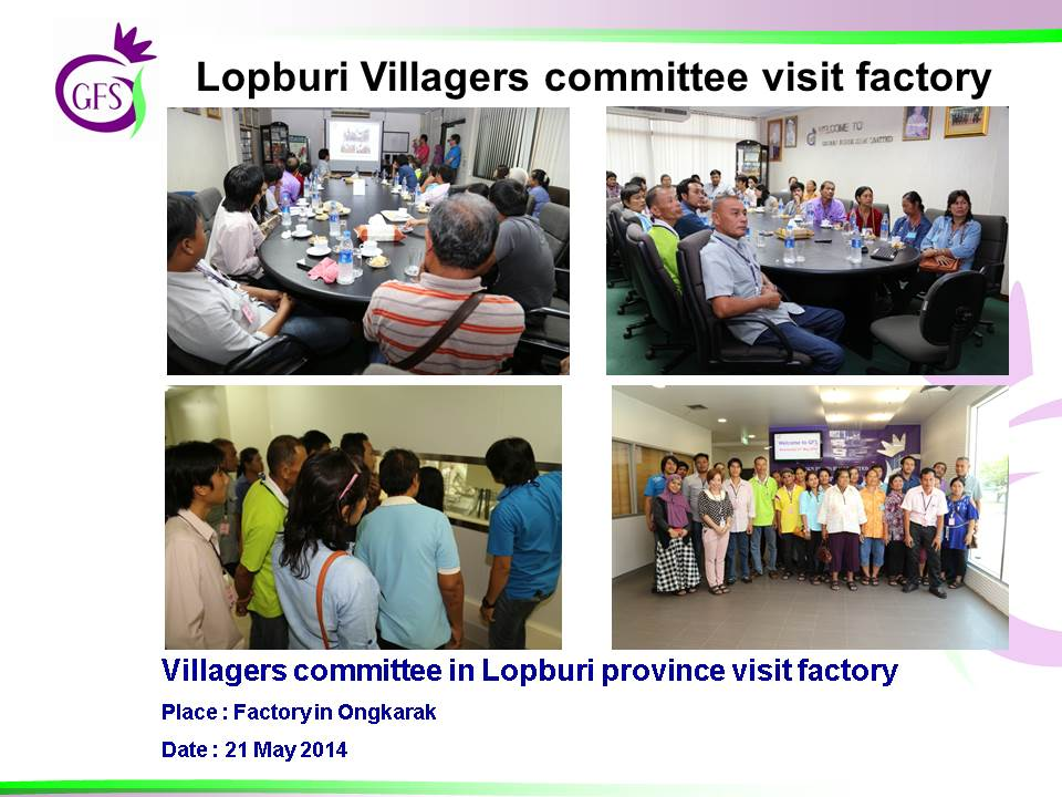 Lopburi Villagers committee visit factory