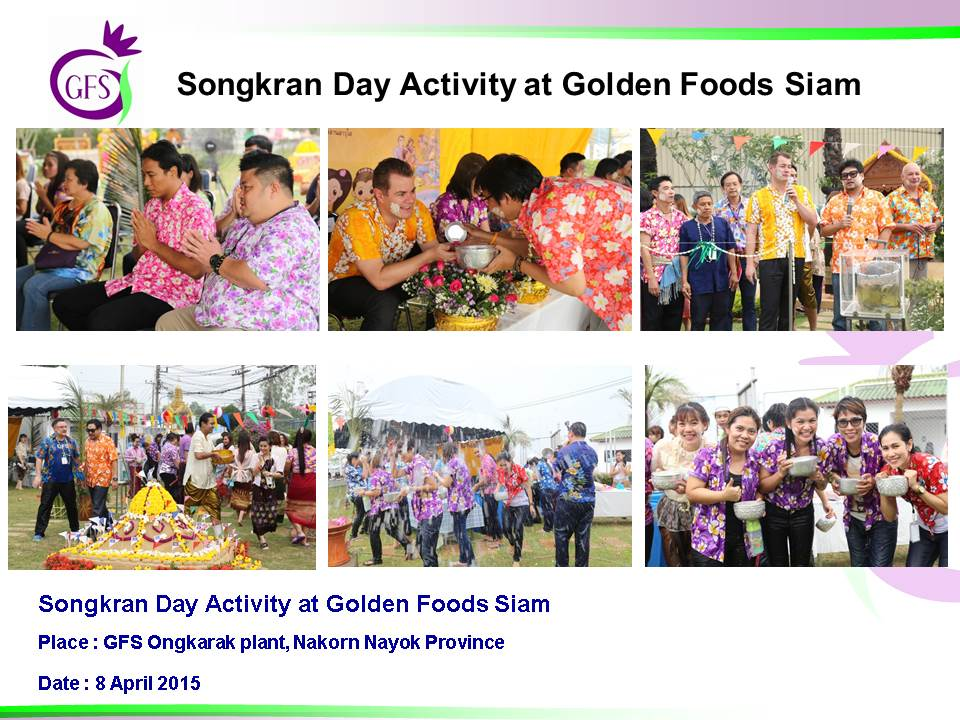 Songkran Day Activity at Gold Foods Siam